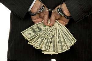Embezzlement-handcuffs